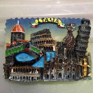 ITALIA  Tourist Travel Souvenir 3D Resin Fridge Magnet Craft GIFT