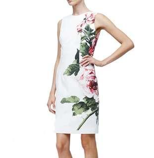 S - XL Floral Sleeveless Midi Dress