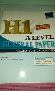 A level General Paper H1 yearly edition 2007 - 2013