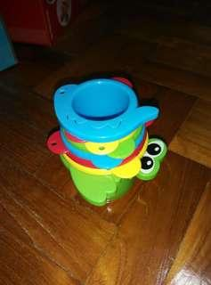 Playgro Stacking Watering Cups Bath Toys