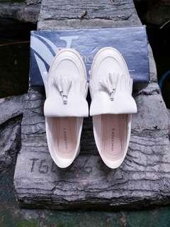 White Slip on shoes