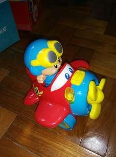 Happy Kid Plane with Pilot Toy