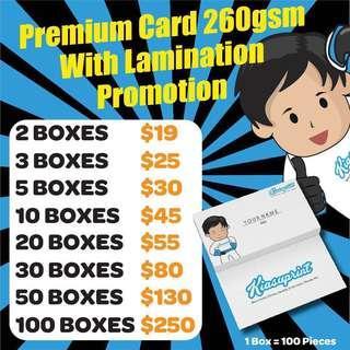 CHEAPEST Namecard Printing - 260gsm, Matt Lamination, 2 Side Full Colour Print!