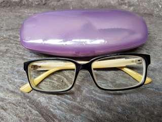 Kacamata minus hitam kuning