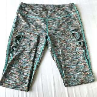 Authentic Used Once Charmed Hearts Sea Green Workout Pants