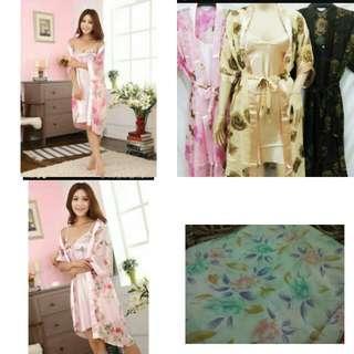 Kimono wanita blush