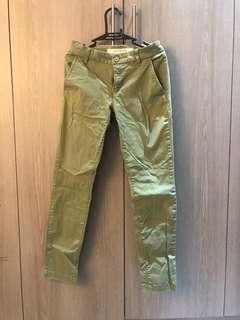 Cotton On Green Chino straight cut pants
