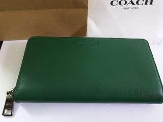 Coach Leather Purse F58102 Green
