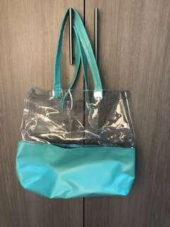 Janina Vela see through beach bag