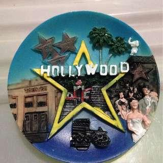 HOLLYWOOD Tourist Travel Souvenir 3D Resin Fridge Magnet Craft GIFT