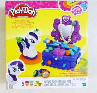 Brand new BN playdoh pony rarity style and spin MLP