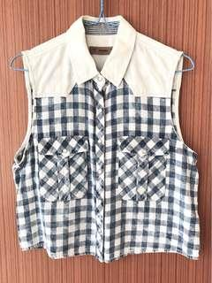 Pull&Bear Checkered Button Up Top