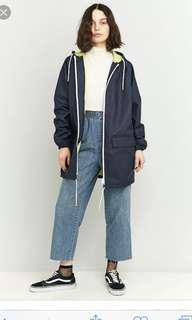 BDG UrbanOutfitters navy raincoat