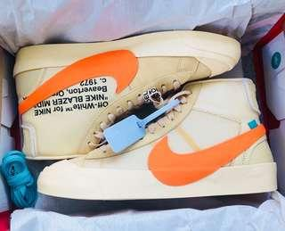 Off-White x NIKE THE 10 : NIKE BLAZER 10 MID US 11 號 limited edition 全新 限量版