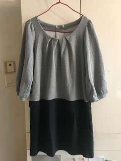 🈹️日本灰黑連身裙