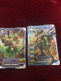 Hero of Robots cards I used