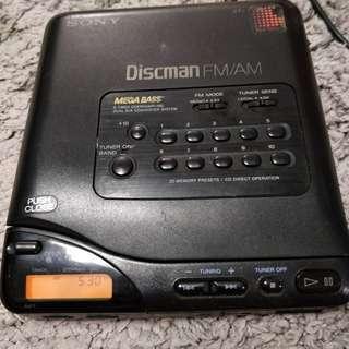 SONY D-T66收音機正常,可惜讀不到磁碟