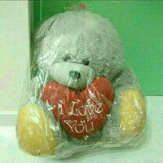 """<FREE> Grey From-Me-to-You Bear With """"I Love You"""" Heart"""