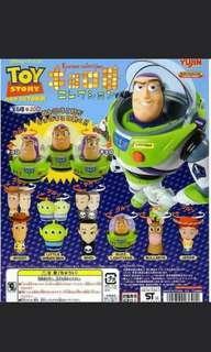 Disney tomy toy story 反斗奇兵  toystory 公仔 擺設 一套 六款 胡迪 巴斯光年 三眼仔 翠斯