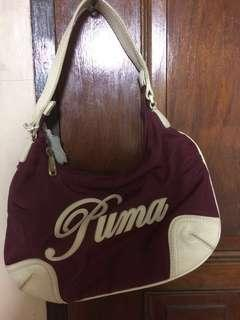 Authentic Puma with leather logo small bag preloved