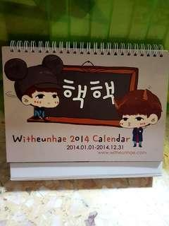 [SALE] Super Junior Eunhae fansite - Witheunhae 2014 calendar