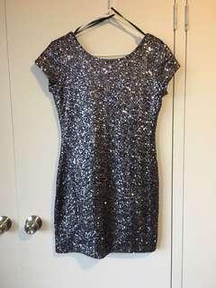 Space grey sequin dress