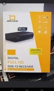 Brand New Draco DVB2 Digital TV box with 2 antennas