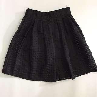 #SBUX50 Black Midi Skirt with inner layer