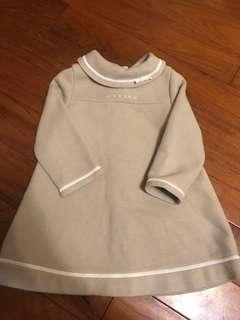 日本 Celine 女童 駝色長袖洋裝