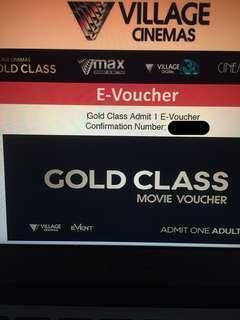 Village Cinemas Gold Class Movie Voucher