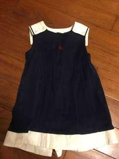 日製 Burberry 女童 背心裙洋裝 90公分