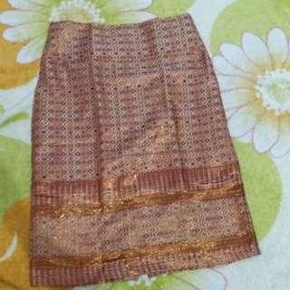Rok songket batik