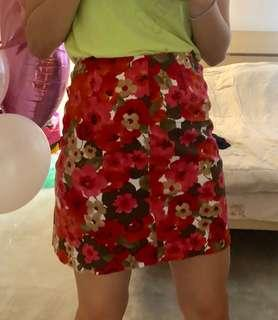 Corporate floral skirt