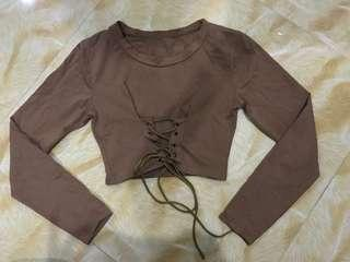 Contemporary Laced up Crop top