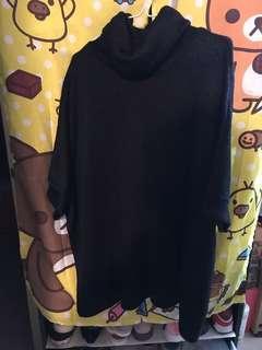 黑色樽領短袖毛衣 Black Short Sleeves Sweater