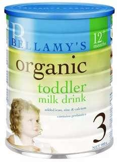 Brand new Stage 3 Formula Milk Powder - Bellamy's Organic