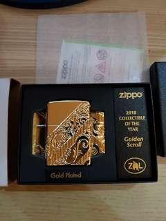 Zippo 2018 Golden Scroll lighter
