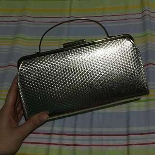 Silver Clutch with Handle (Free Shipping)