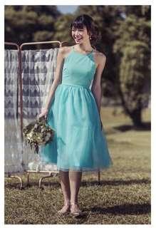 TVD Midsummer's Night Tulle Bridesmaid Dress in Mint (M)