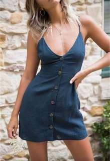 S - XL Button Down Dress