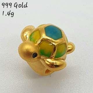 999 Gold Turtle Pandora Compatible Xharm