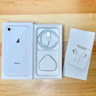 Apple iPhone 8 吉盒 連全新耳機、充電線、火牛