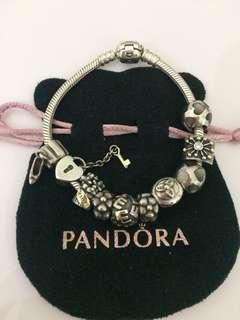 Pandora $30-$60 per charm silver and gold