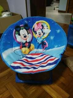 Mickey and Minnie Mouse Kids Toddler Foldable Chair