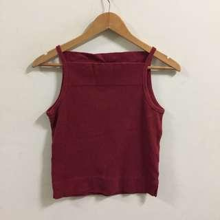 Ralph Lauren Maroon Crop Top Size M Tube