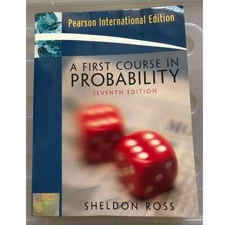 9成新 大學教科書 A FIRST COURSE IN PROBABILITY SEVENTH EDITION SHELDON ROSS PEARSON INTERNATIONAL EDITION