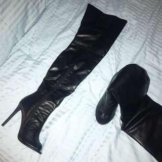 Thigh High Leather look Boots