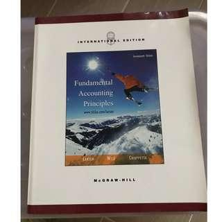 9成新 大學教科書 FUNDAMENTAL ACCOUNTING PRINCIPLES SEVENTEETH EDITION MAGRAW.HILL INTERNATIONAL EDITION
