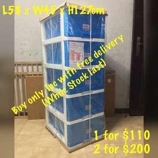 Toyogo 5-tier storage cabinet/drawer with wheels