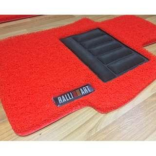 2008 TO 2017 MITSUBISHI LANCER EX, RALLIART LANCER OEM FITMENT CAR FLOOR COIL MAT RALLIART LOGO 3 PCS  COLOR AVAILABLE - RED, BLACK ,GREY ,BEIGE ,BROWN ,GREEN & BLUE...